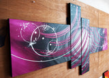 Modern Purple Art Painting 1005- 64x34in
