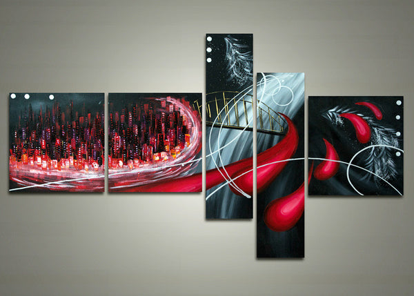 Modern Urban Painting 1017 - 63x33in