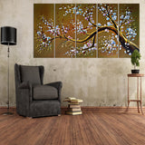 Large Modern Brown Tree Oil Painting 1021 - 60x32in