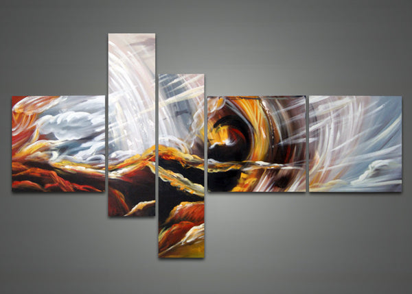 Modern Abstract Canvas Art - Yellow 1031 - 66 x 36in