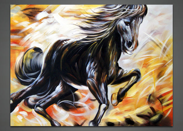 Modern Horse Canvas Painting 1033 - 40x30in