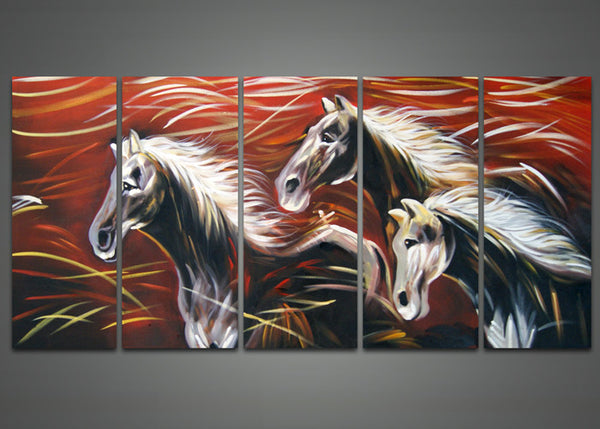 Modern Horse Oil Painting 1035 - 60x32in