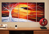 Abstract Tree Canvas Art Painting 1045 - 60x32in