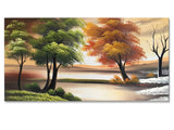 Nature Four Seasons Single Panel 1073s- 16x32in