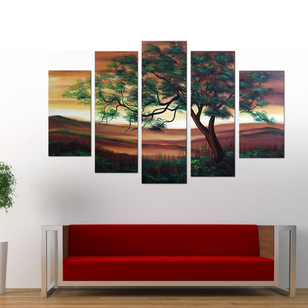 Green Tree Canvas Painting 1085 60x32in
