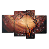 Tree Blossom Whirlwind 4 Piece Original Painting