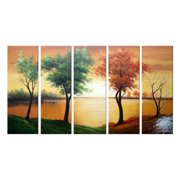 Green & Brown Tree Art Painting 1089 60x32in