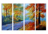 Highly Textured Forest Painting 1090 - 55x32in