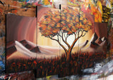 Brown Tree Art Painting 1099 60x32in