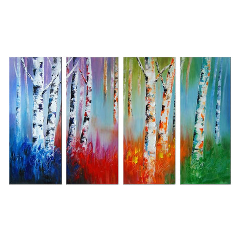 Colorful Forest Painting 1100 - 55x32in