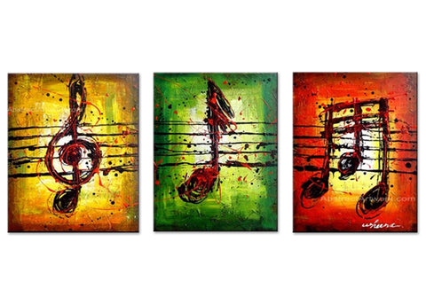 Musical Notes Art Painting 60x24in