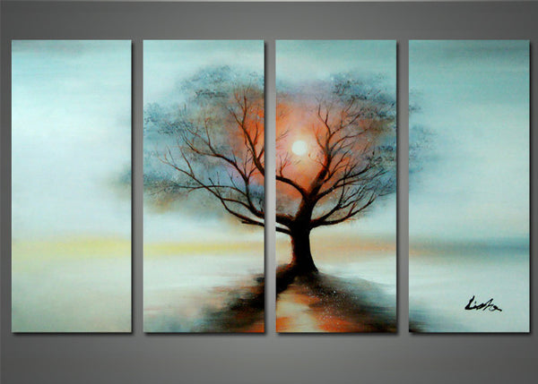 Tree in the Night – Modern Tree Painting 1130 - 56 x 32in