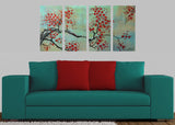 Red Flowers - Modern Canvas Floral Art 1146 - 48x28in