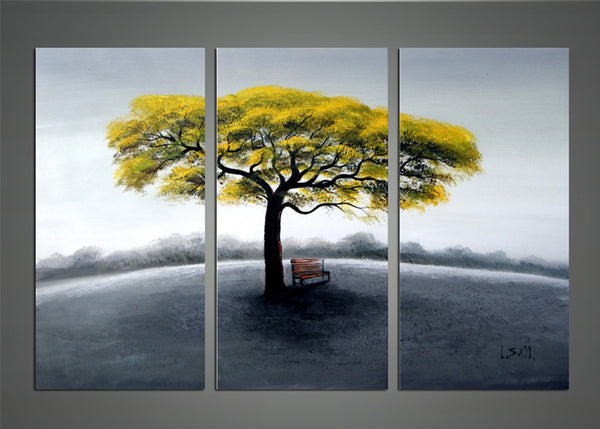 Tree in Solitude - Modern Tree Painting 1155 - 36x32in