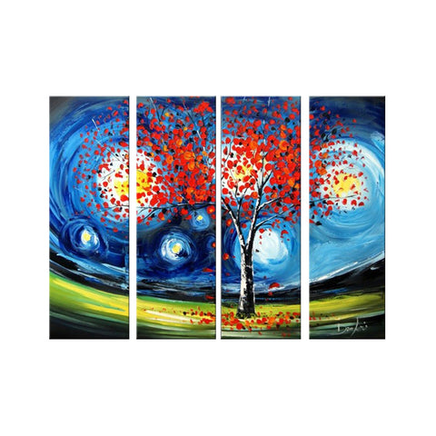 Modern Tree Artwork - Heavily Textured 1157 - 48x32in