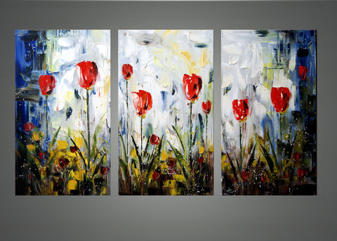 Floral Art Painting 1158 - 48x28in.