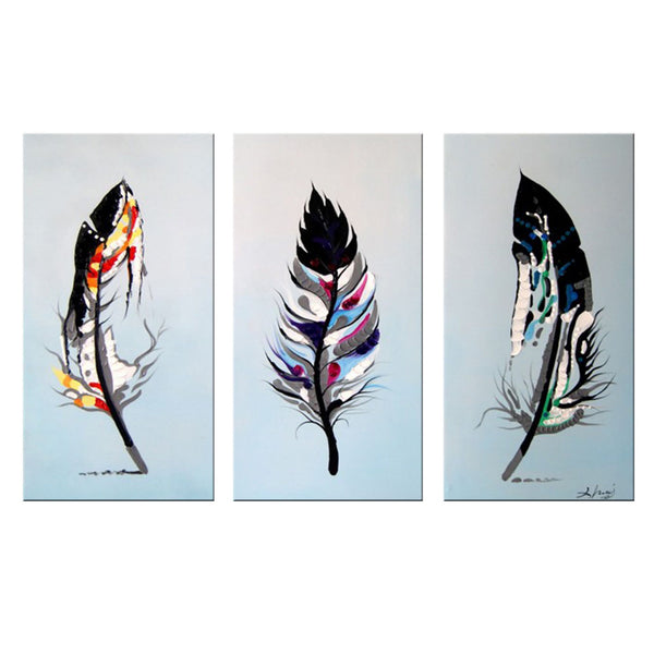 Modern Feathers- Abstract Oil Painting 1163 - 36x32in