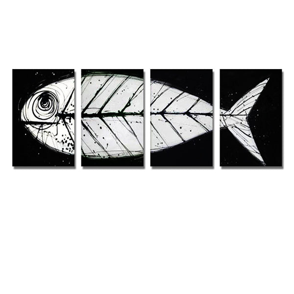 Fish Art Painting 116 - 60x20in