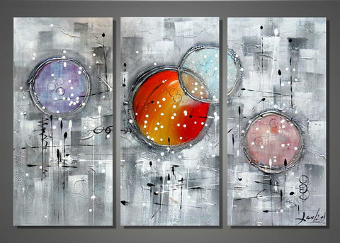 Burst Your Bubble- Textured Oil Painting- 1170- 36x32in