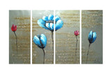 Modern Floral Art with Scribbling 1191 - 48x28in