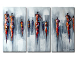 Tall People - Abstract Wall Art on Canvas 1193 36x32in