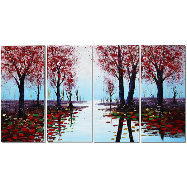 Long into the Forest of Colors 1195 - 48x28in