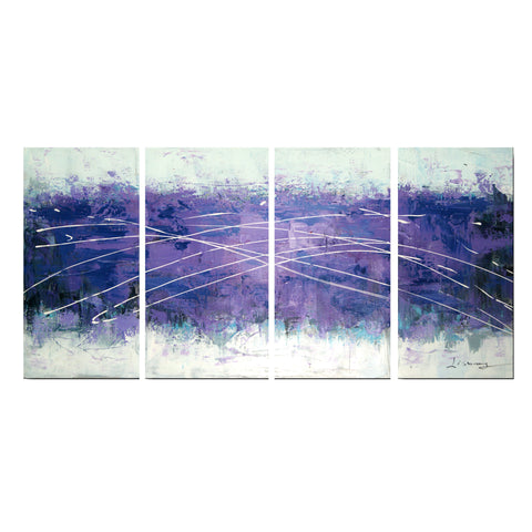 Cloudy Purple - Abstract Canvas Wall Art 1214 - 56x28in