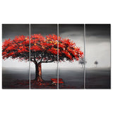 Red Tree for Relax Art Painting 1217 - 48x32in