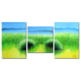Earth to Sky - Lush Nature Canvas Art 1222 - 60x28 in