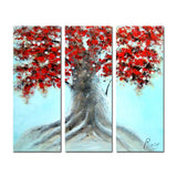 Red Leaves - Huge Tree Canvas Wall Art 1223 - 36x32in