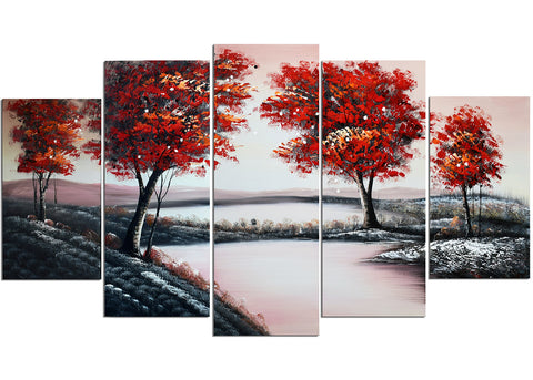 Pool in Flowery Valley Art Painting 1230 - 60x32in