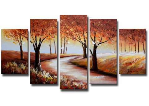 Streaming Through Colorful Forest 1231 - 60x32in