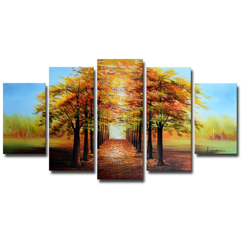 Warm Welcome - Tree Art Painting 1234 - 60x32in