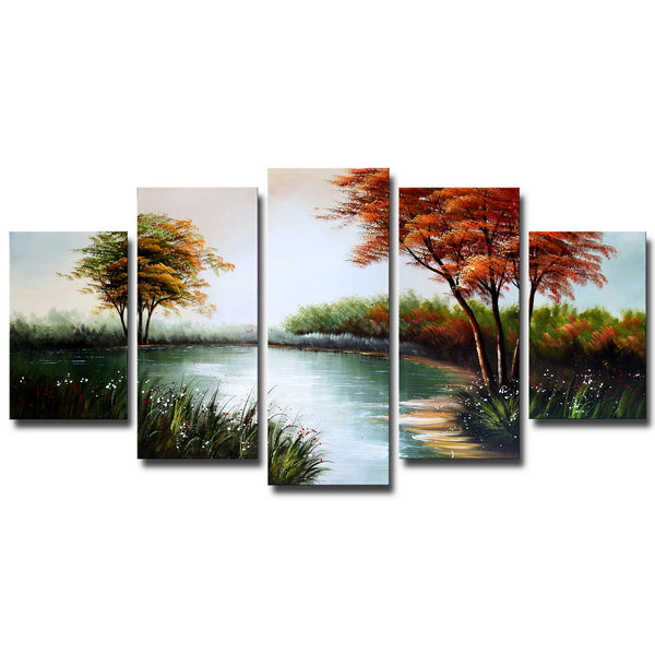 Natural Pool Canvas Artwork 1235 - 60x32in