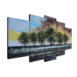 Wall of Green Trees - Modern Artwork 1236 - 60x32in