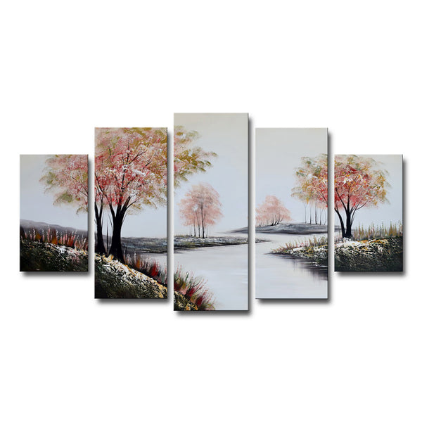 Stream in Pink Forest Artwork 1237 - 60x32in