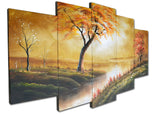Stream Diversion Large Art Painting 1240 - 60x32in