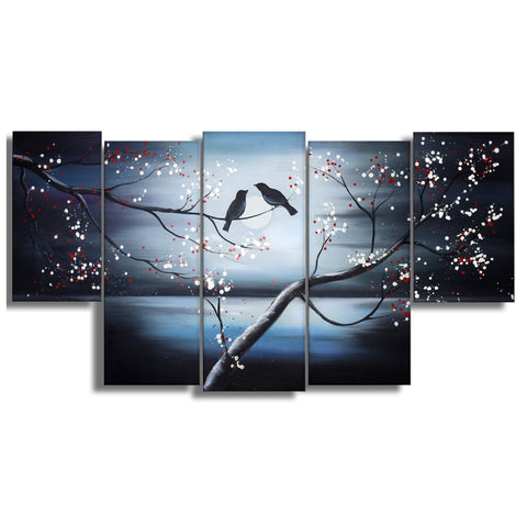 Together Forever Birds Painting 1268-3 60x32 In