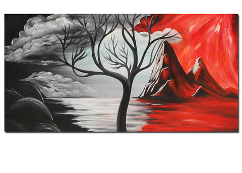 Abstract Tree Art Painting 1 Panel 127S - 32x16in