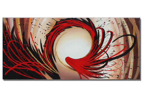 Abstract Art Red Oil Painting - 146s-32x16in