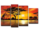 Large African Painting 157 - 52x30in