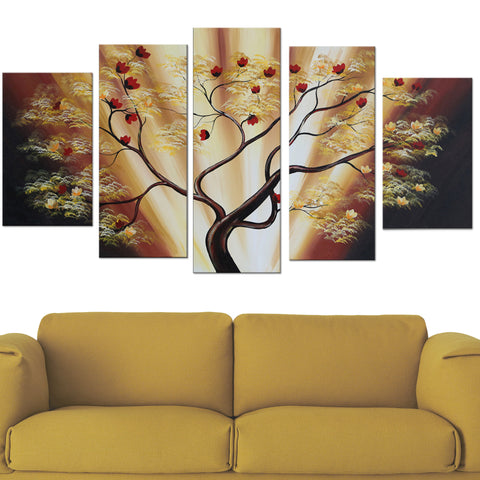 Modern Brown Tree Artwork 1599 - 60x32in