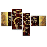 Brown Africa Tree Art Painting 234 - 57,2x34in