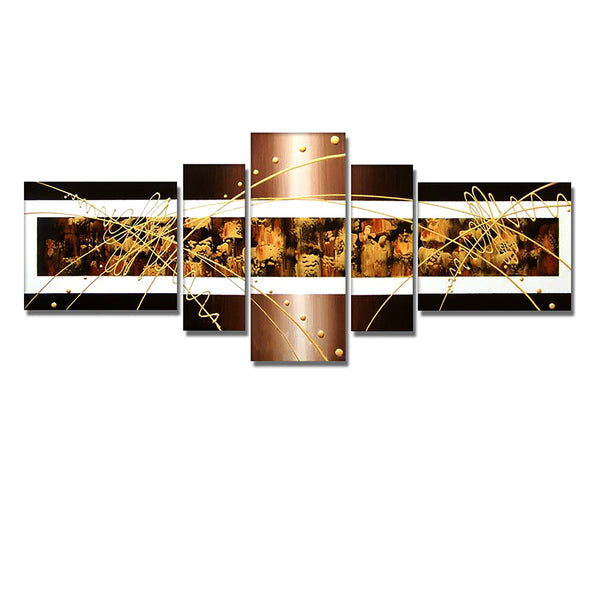 Brown Abstract Art Painting 253 - 67x30in