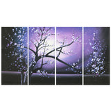 Purple Tree Painting with Flowers 271 - 48x30in