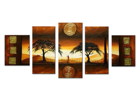 Brown Tree Asian Painting 280 - 60x32in