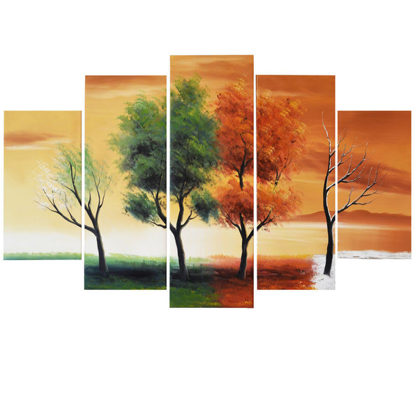 Handpainted Oil Painting - Nature Four Seasons 373 - 60x32in