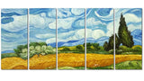Van Gogh Wheat Field with Cypresses Oil Painting 60x28 in