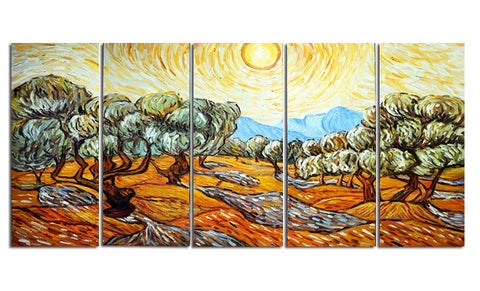 Van Gogh Olive Trees Oil Painting 60x28 in