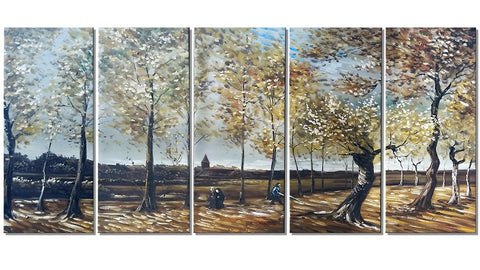 Van Gogh Oil Painting Reproduction - Poplars Near Nuenen 60x28in